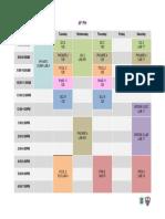 4F PH First Semester Schedule