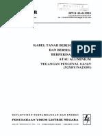 Spln 43-8-1994 Kabel Tanah Berisolasi Xlpe Dan Berselubung