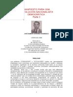 Manifiesto Para Una Revolución Nacionalista Democrática (José Ramón Gutiérrez Rodríguez - Parte II