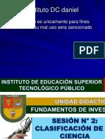 01. Clasificación de La Ciencias(Instituto Daniel Dc)