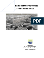 05 Jan 2015guidelines for Manufacturing Quality Fly Ash Bricks