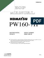 Komatsu PW160-7H Hydraulic Excavator Service Repair Manual SN H50051 and up.pdf
