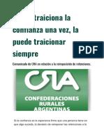CRA Comunicado