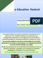 El Proyecto Educativo-Pastoral