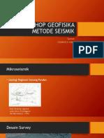 Workshop Geofisika Metode Seismik