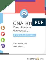 Contenidos Cuestionario Ceso Nacional Agropecuario