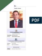 Presidente Jimmy Morales Periódo 2015-2019