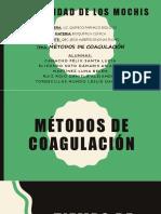 Métodos de coagulación