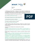 Economia Empresarial - Lista 1