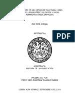 Monografia Historia de La Computación - Informática
