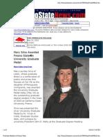 Graduate Medalist at Fresno State