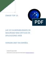 OWASP Top 10 2007 Spanish