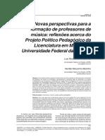 Artigo Sobre Formacao Professores Paraiba