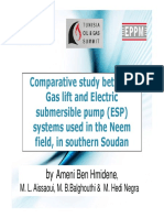 Comparative Study Between Gas Lift and Electric Submersible Pump Systems