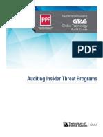 GTAG Auditing Insider Threat Programs