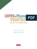 Receita Leite Vegetal Basico Livro Leites e Manteigas Vegetais