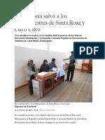 Revocatoria Salvó a Los Burgomaestres de Santa Rosa
