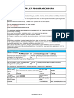 QF Supplier Form