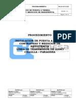Procedimiento Instalación de Puestas a Tierra, Contrapesos y Medición de Resistividad Ver 01