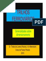TRILHOS FERROVIÁRIOS