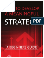 How to Develop a Meaningful Strategy