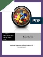Consumer Prescription Drug Report