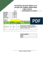 Formato de Rencion de Fondos en Efectivo