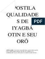 Apostila de Iyagbá Otin e Seu Orô