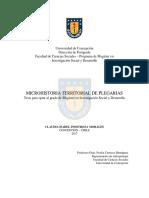 Tesis Microhistoria Territorial de Plegarias