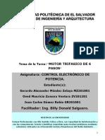 Reporte de Proyecto Motor de Sies Pasos