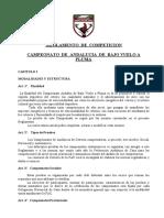 42 Reglamento de Competiciones de Cetreria en Bajo Vuelo a Pluma