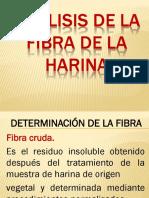 Análisis de La Fibra de La Harina