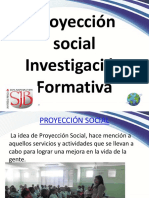 Proyeccion Social - Invest. Form.