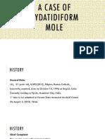 OB JC Case of Hydatidiform Mole