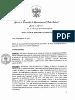 Resolución de Jefatura N° 166-2018-J-OCMA/PJ