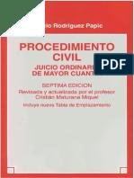 Procedimiento Civil, Juicio Ordinario de Mayor Cuantia