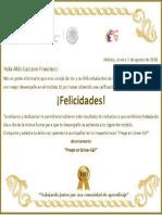 Mi Reconocimiento de 100 de 100 del Módulo 10 - Prepa en línea - SEP - Aldo Lazcano Francisco.