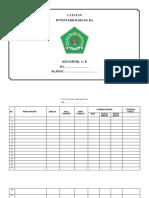 Contoh Catatan Inventaris Barang