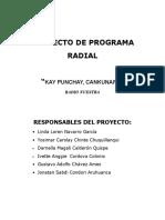 Proyecto de Programa Radial Febrero