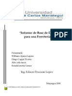 Informe de La Base de Datos Ferreteria Ujcm Corregido