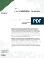 Phytoremédiation Des Sols