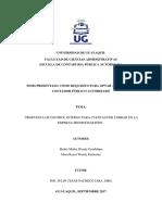 Propuesta de Control Interno Para Cuentas Por Cobrar en La Empresa Promocharters