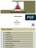 Business Strategy Lecture 1