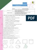 Prueba Matematica Cuerpos y Figuras Geometricas 3d y 2d