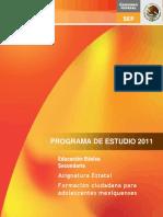Plan de Formacion Ciudadana Para Adolescentes Mexiquenses