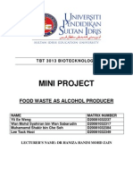 Food Waste as Alcohol Producer