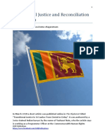 Transitional Justice and Reconciliation in Sri Lanka by Dr Romesh Senewiratne-Alagaratnam (2018)