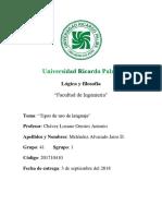 Universidad Ricardo PalmaLogicayfilosofia Trabajo