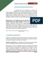 1.1 Intr Al Mantto, 1.2 Principios de Organización