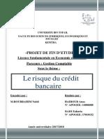 Risque Du Credit Bancaire